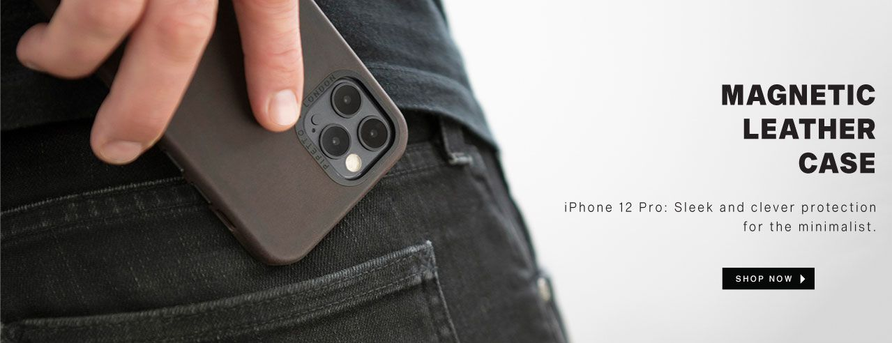 iPhone 12 Leather Magnetic Case
